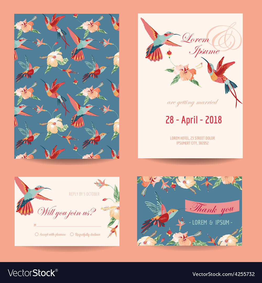 Invitation save the date card set vector | Price: 1 Credit (USD $1)