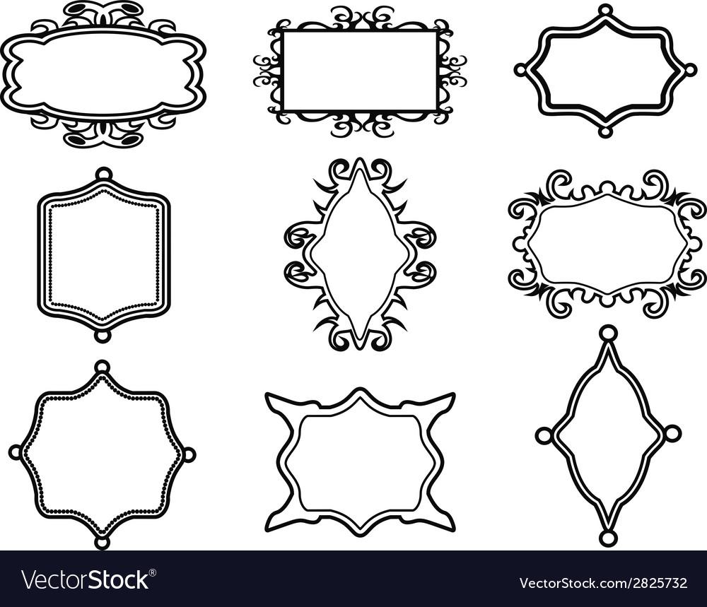 Ornamental vintage frame set vector | Price: 1 Credit (USD $1)
