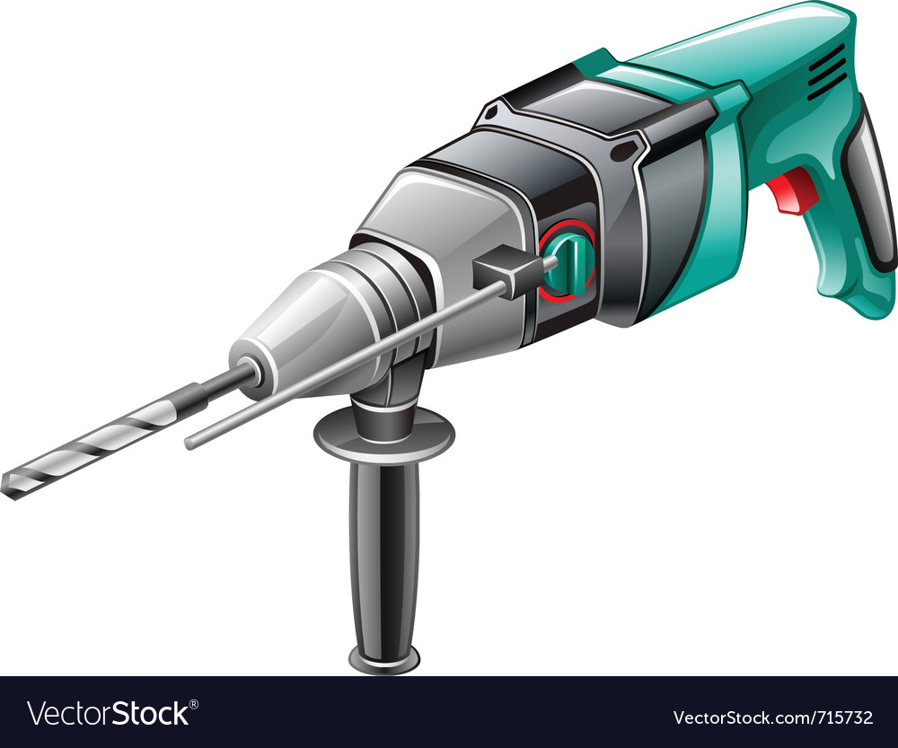 Rotary hammer vector | Price: 3 Credit (USD $3)