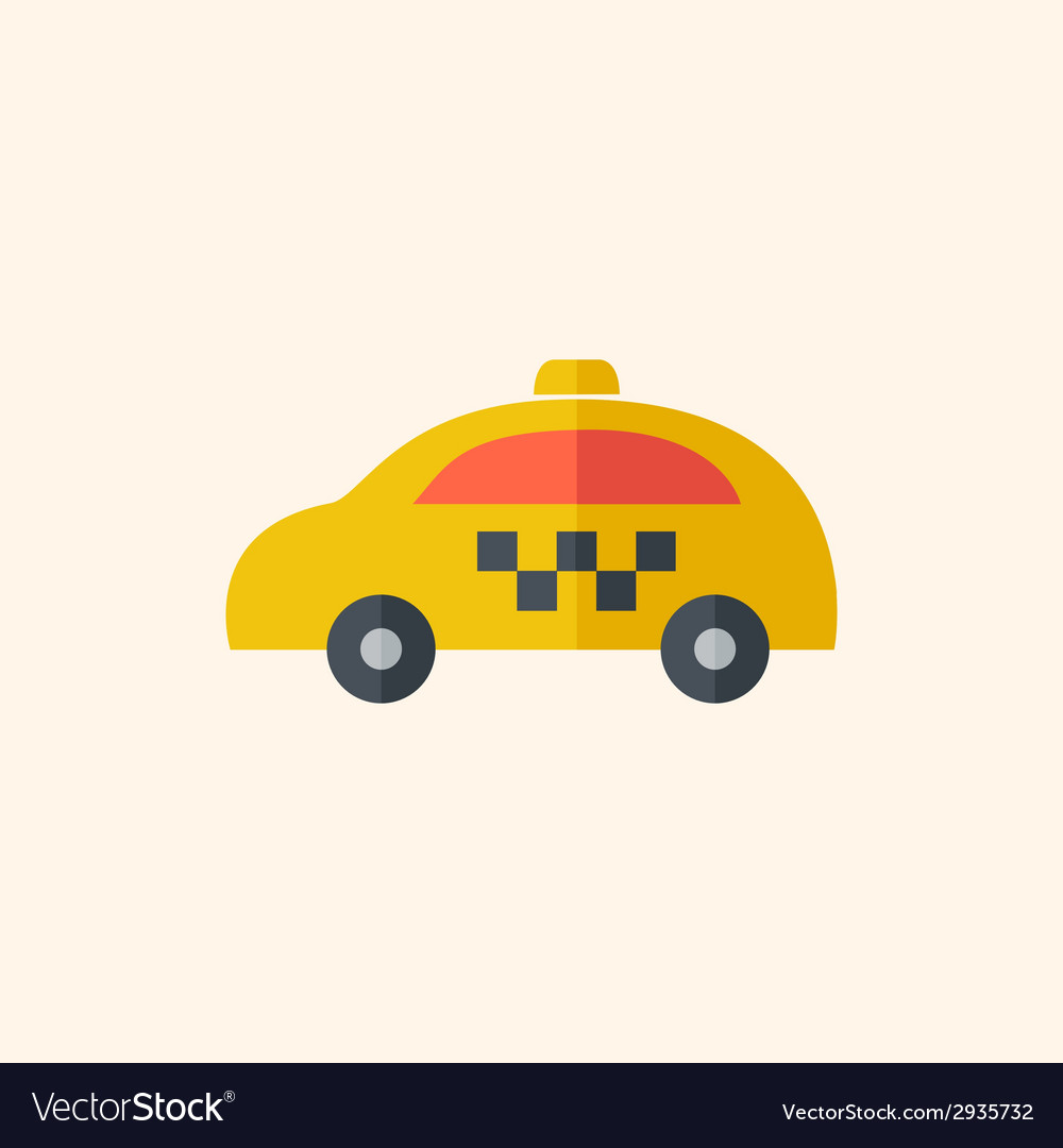 Taxi travel flat icon vector | Price: 1 Credit (USD $1)