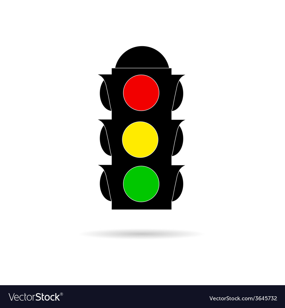 Traffic light color vector | Price: 1 Credit (USD $1)