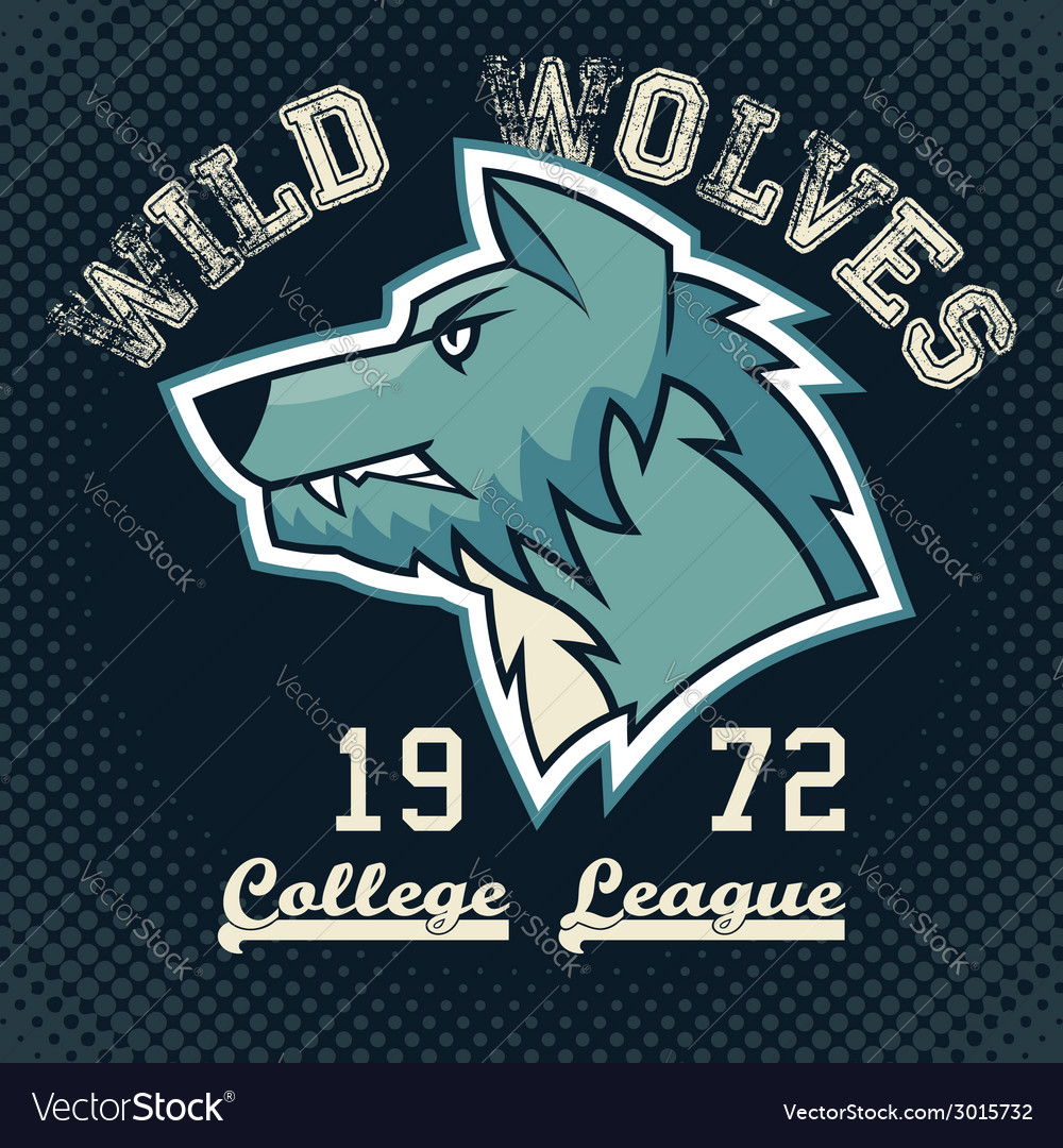 Wild wolves sports mascot vector | Price: 1 Credit (USD $1)