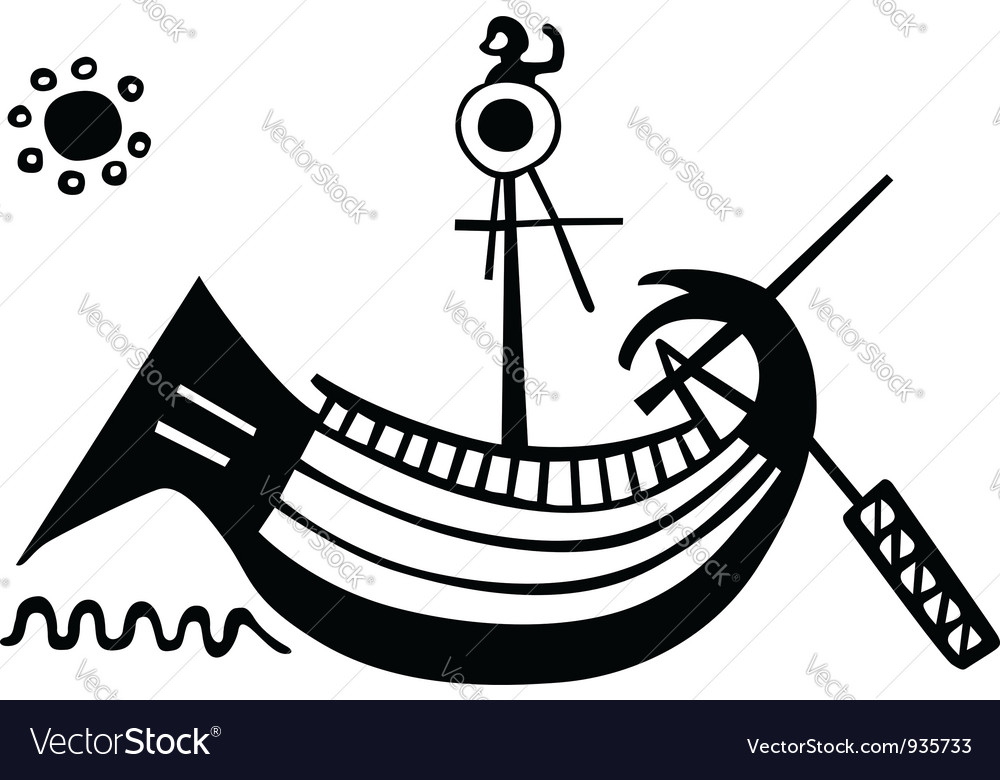 Ancient greek boat vector | Price: 1 Credit (USD $1)