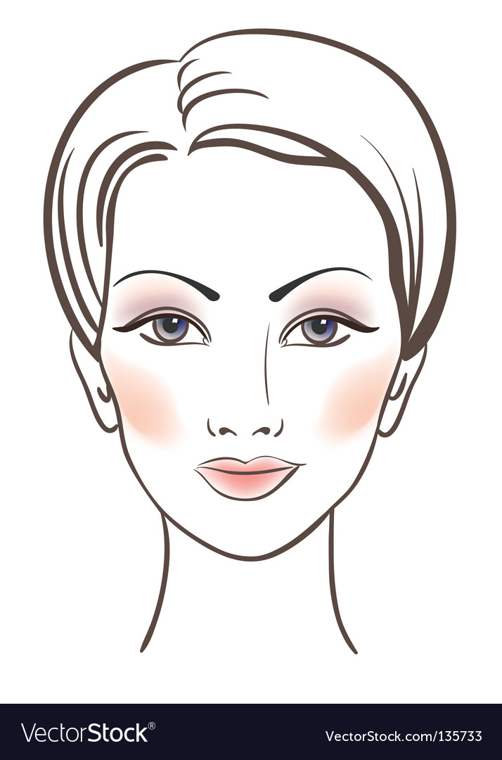 Beauty women face with makeup vector | Price: 3 Credit (USD $3)