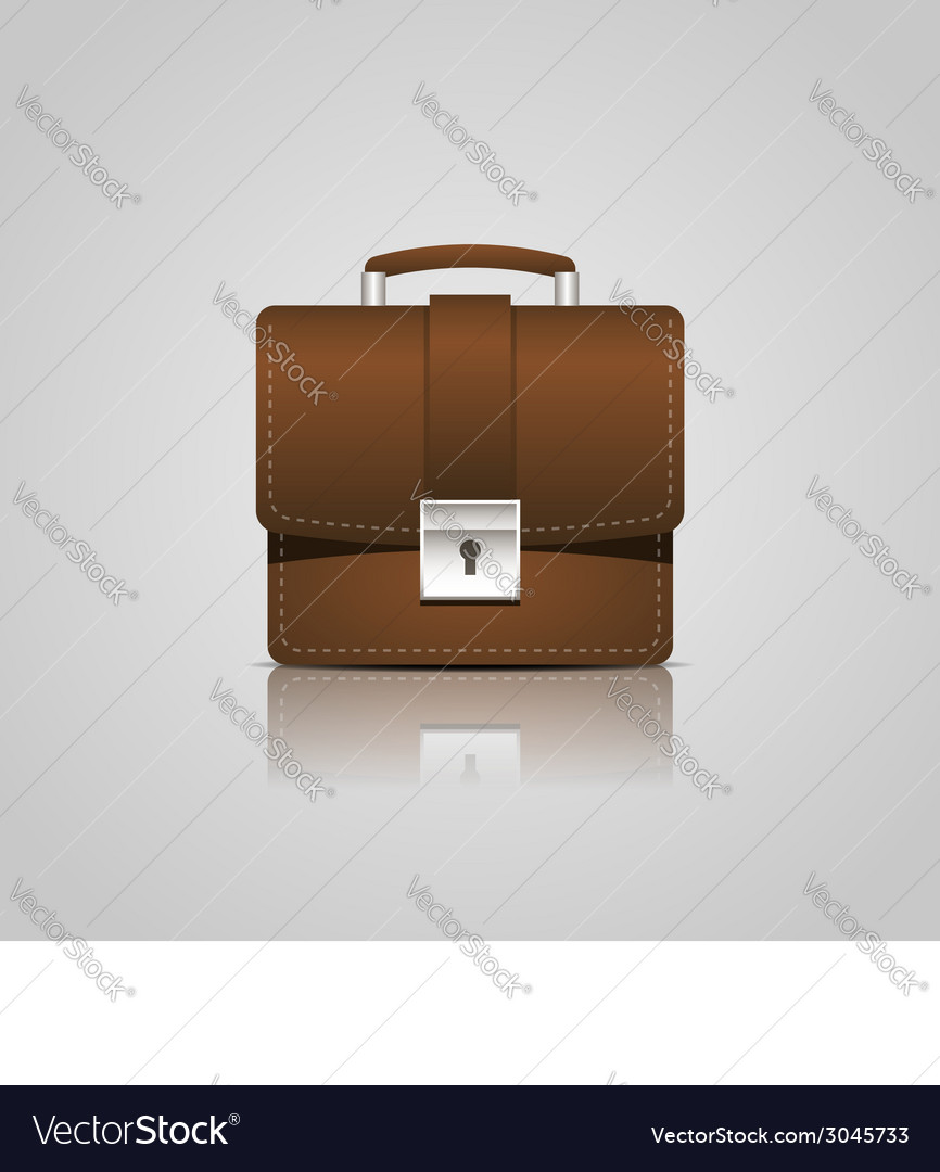 Brown business briefcase icon vector | Price: 1 Credit (USD $1)
