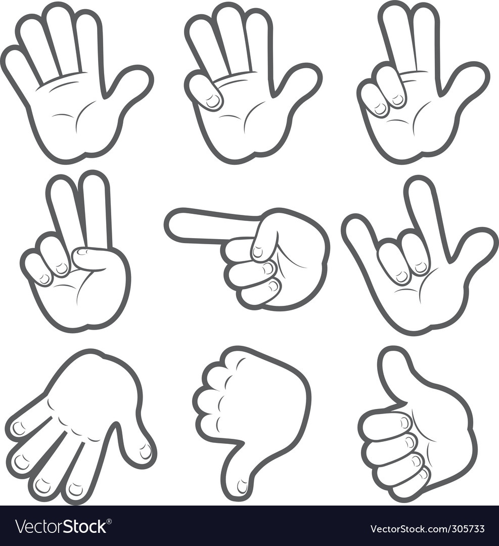 Cartoon hands vector | Price: 3 Credit (USD $3)