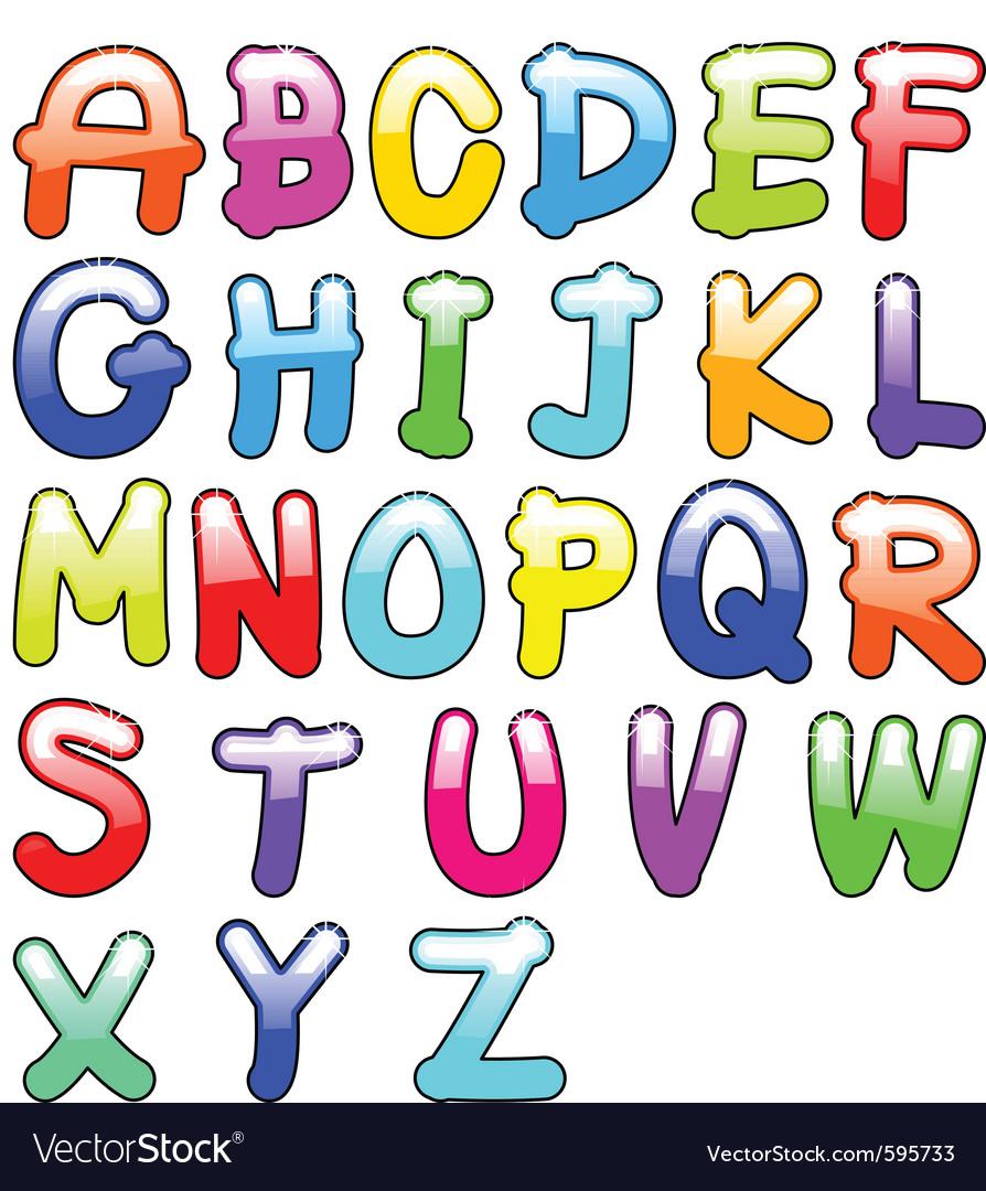 Childish alphabet vector | Price: 1 Credit (USD $1)