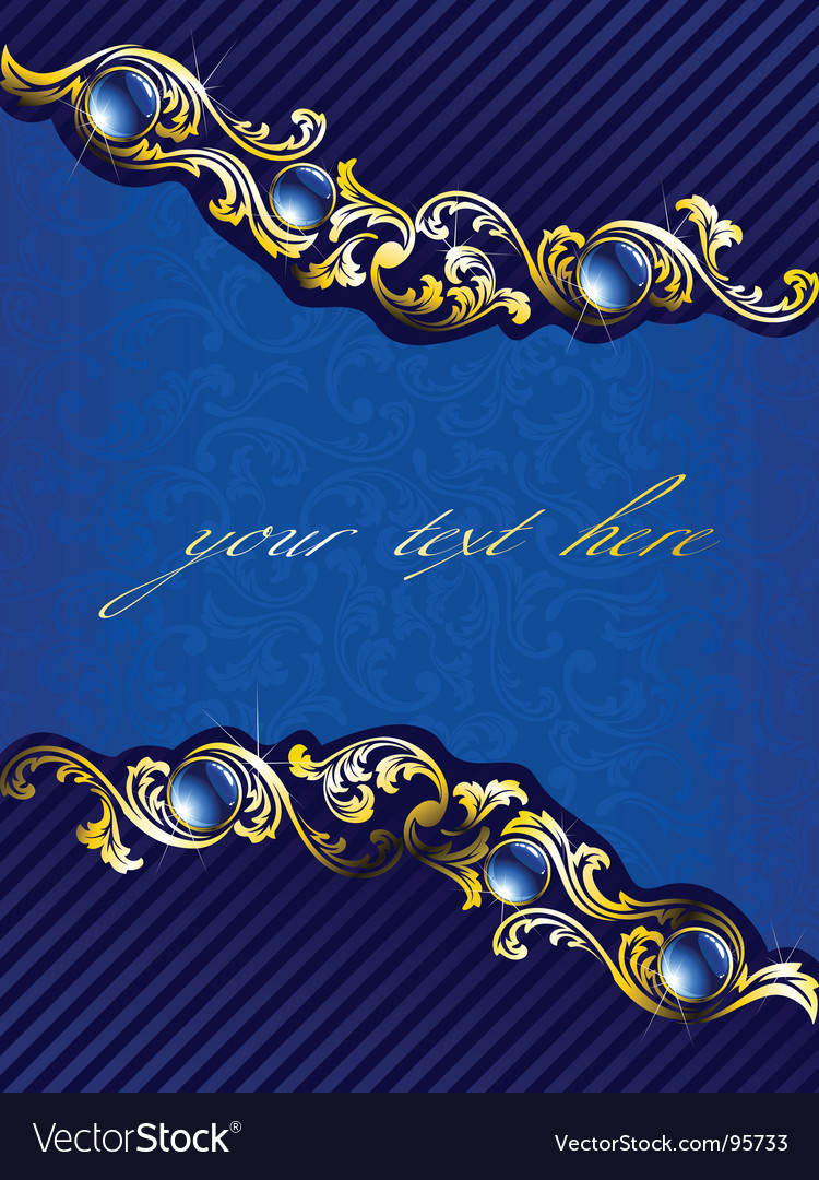 Elegant gold and blue background vector