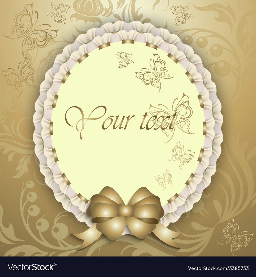 Gift card with silk ribbon place for text vector | Price: 3 Credit (USD $3)