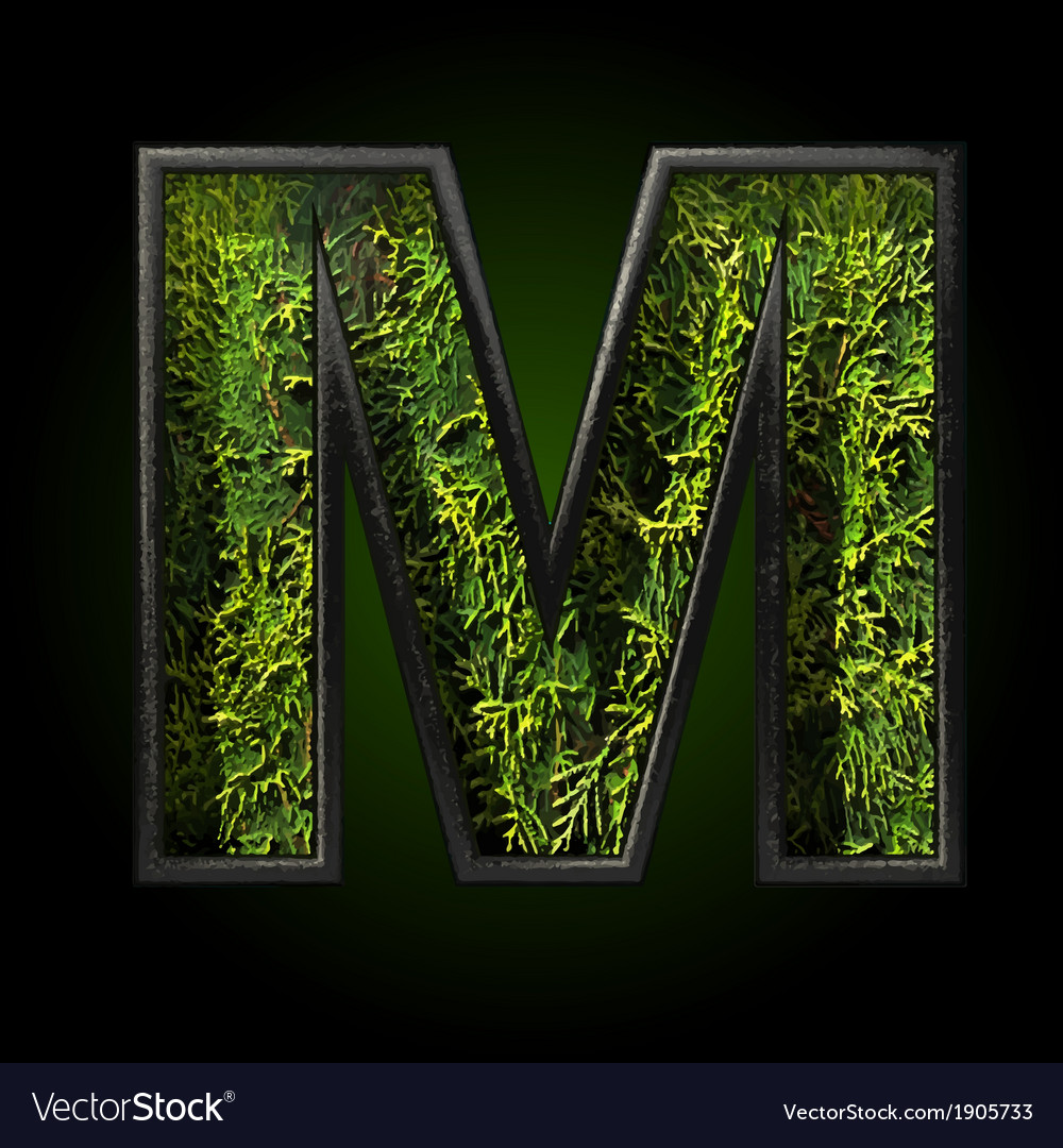 Grass cutted figure m vector | Price: 1 Credit (USD $1)