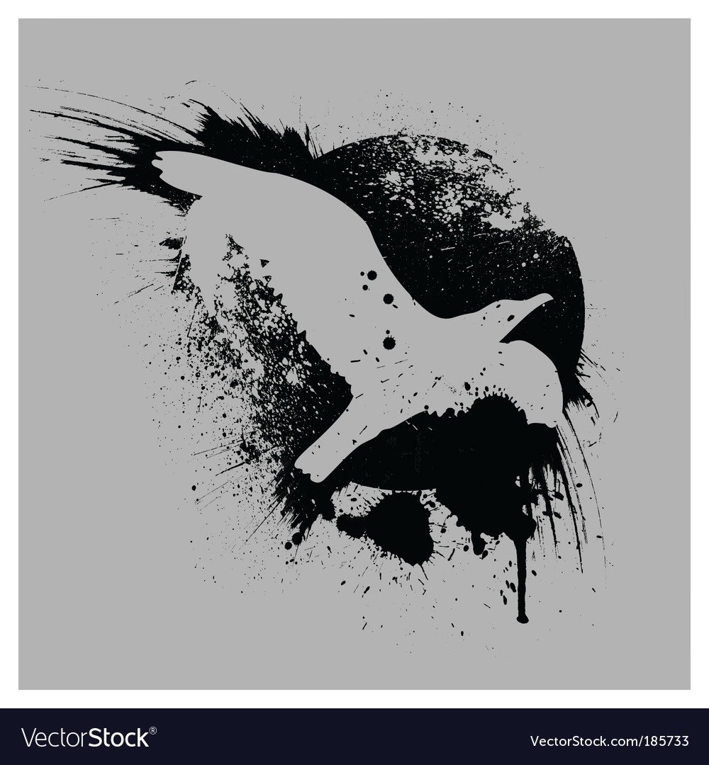 Grunge bird vector | Price: 1 Credit (USD $1)