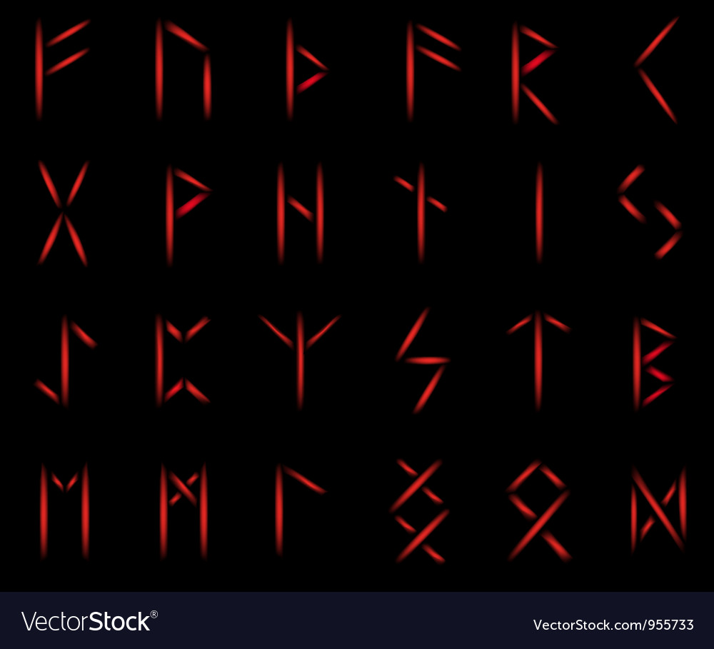 Runes fire vector | Price: 1 Credit (USD $1)