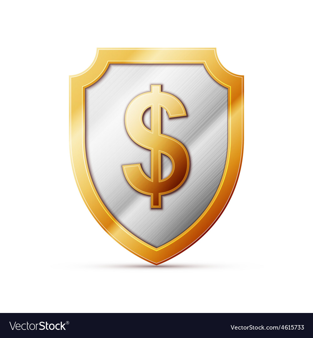 Shield with dollar sign vector | Price: 1 Credit (USD $1)