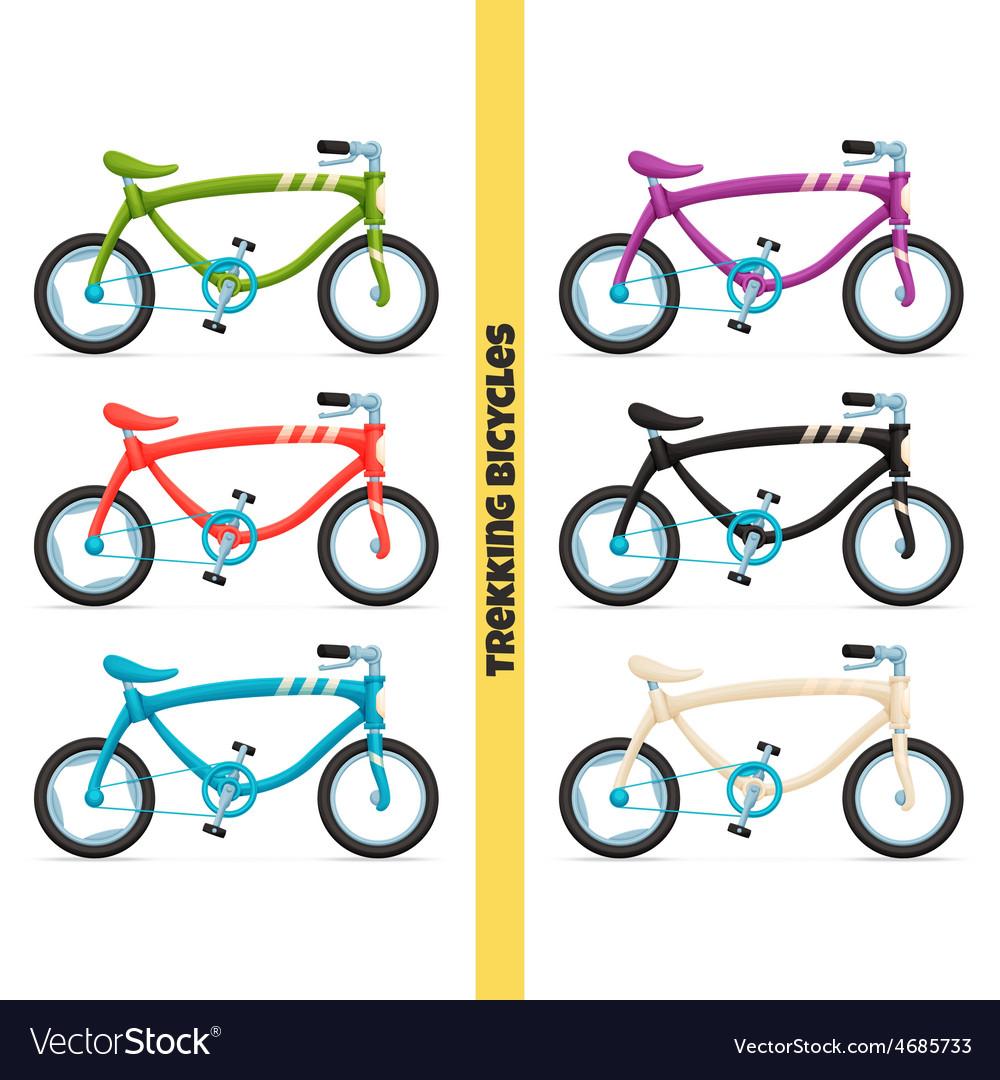 Trekking bicycles two vector | Price: 1 Credit (USD $1)
