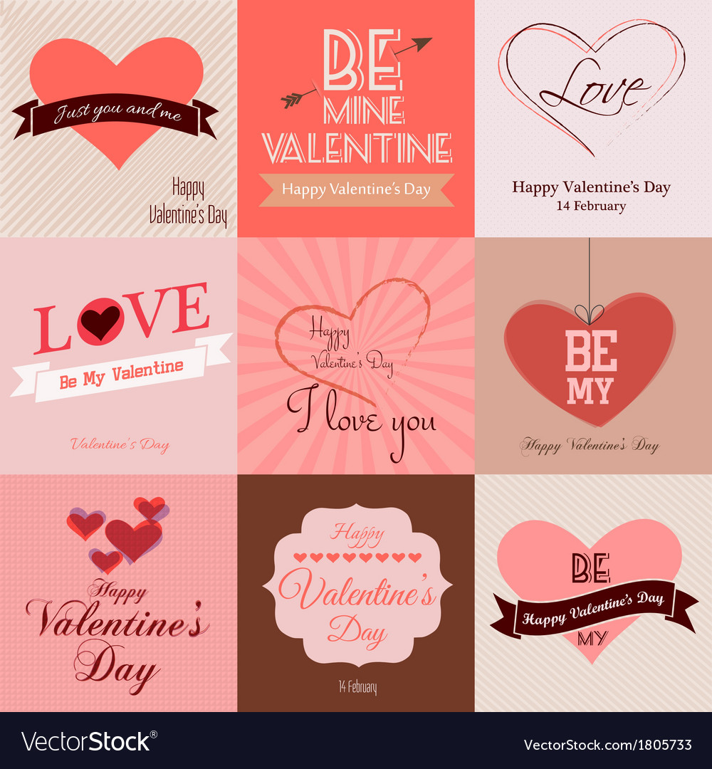 Valentine cards vector | Price: 1 Credit (USD $1)