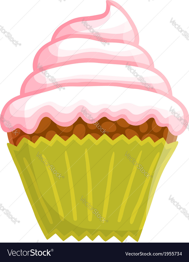 Cartoon cupcake vector | Price: 1 Credit (USD $1)