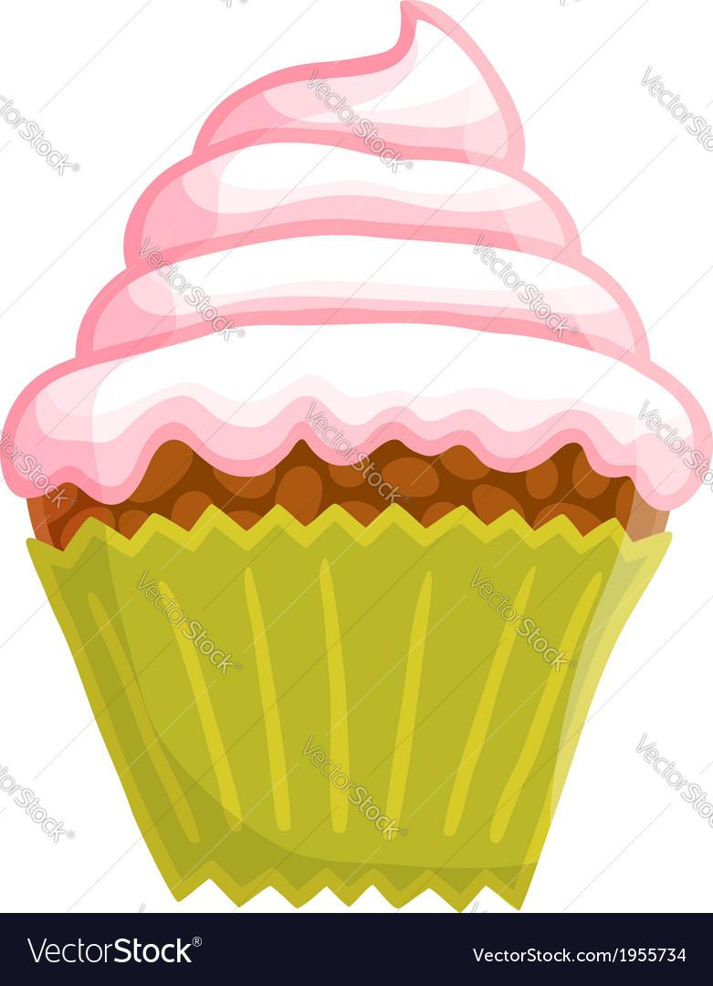Cartoon cupcake vector | Price: 1 Credit (USD $1)