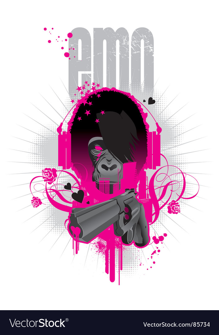Emo gorilla vector | Price: 1 Credit (USD $1)