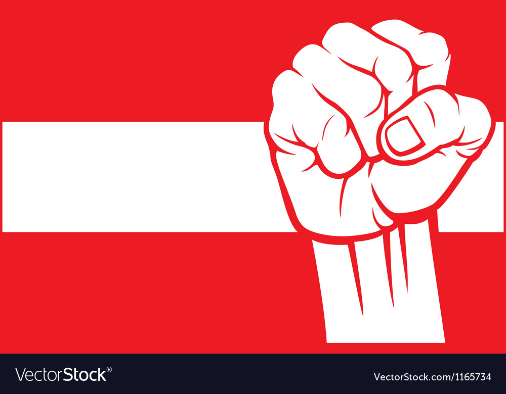 Flag of austria with fist vector | Price: 1 Credit (USD $1)