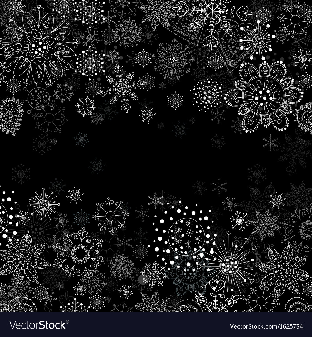 Invitation card with flowers and snowflakes vector | Price: 1 Credit (USD $1)