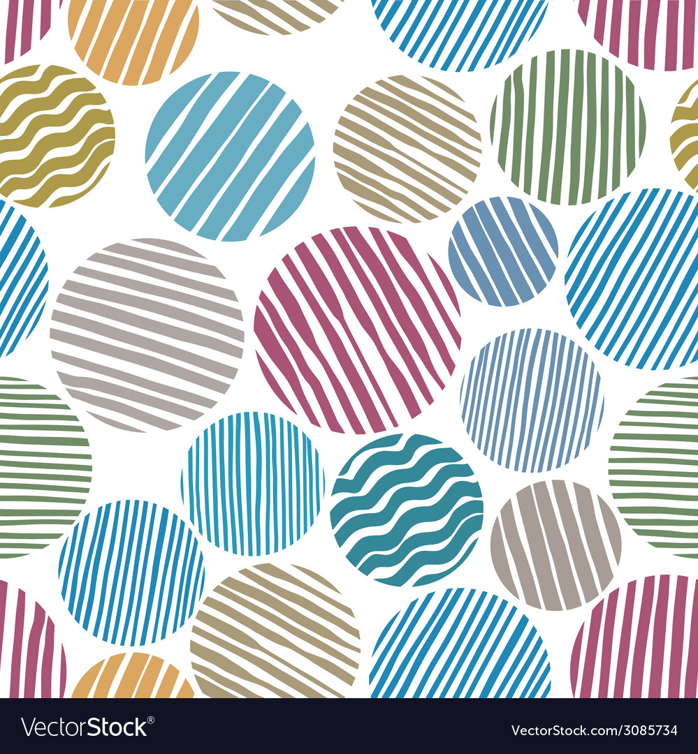 Lined circles seamless pattern vector   Price: 1 Credit (USD $1)