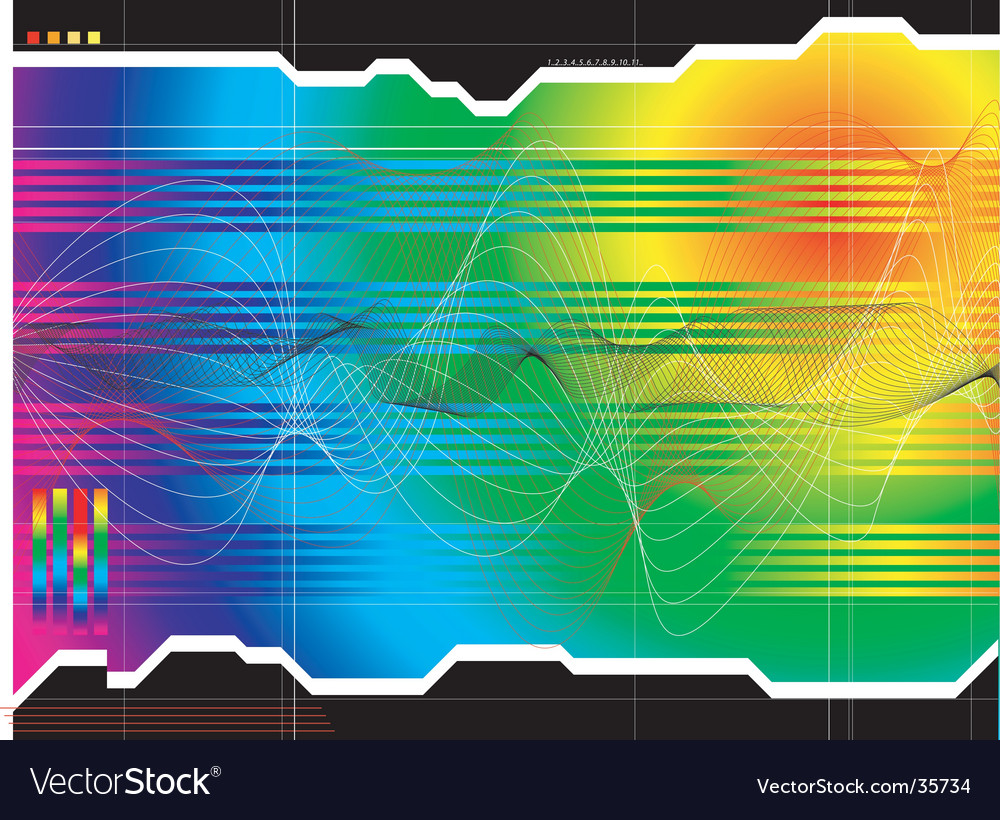 Space outlook rainbow vector | Price: 1 Credit (USD $1)