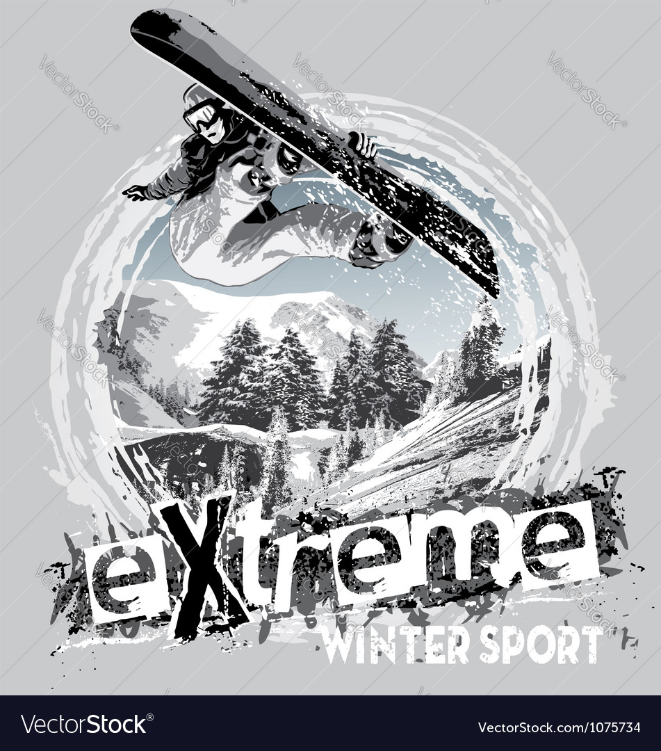 Winter sport snowboard vector | Price: 1 Credit (USD $1)