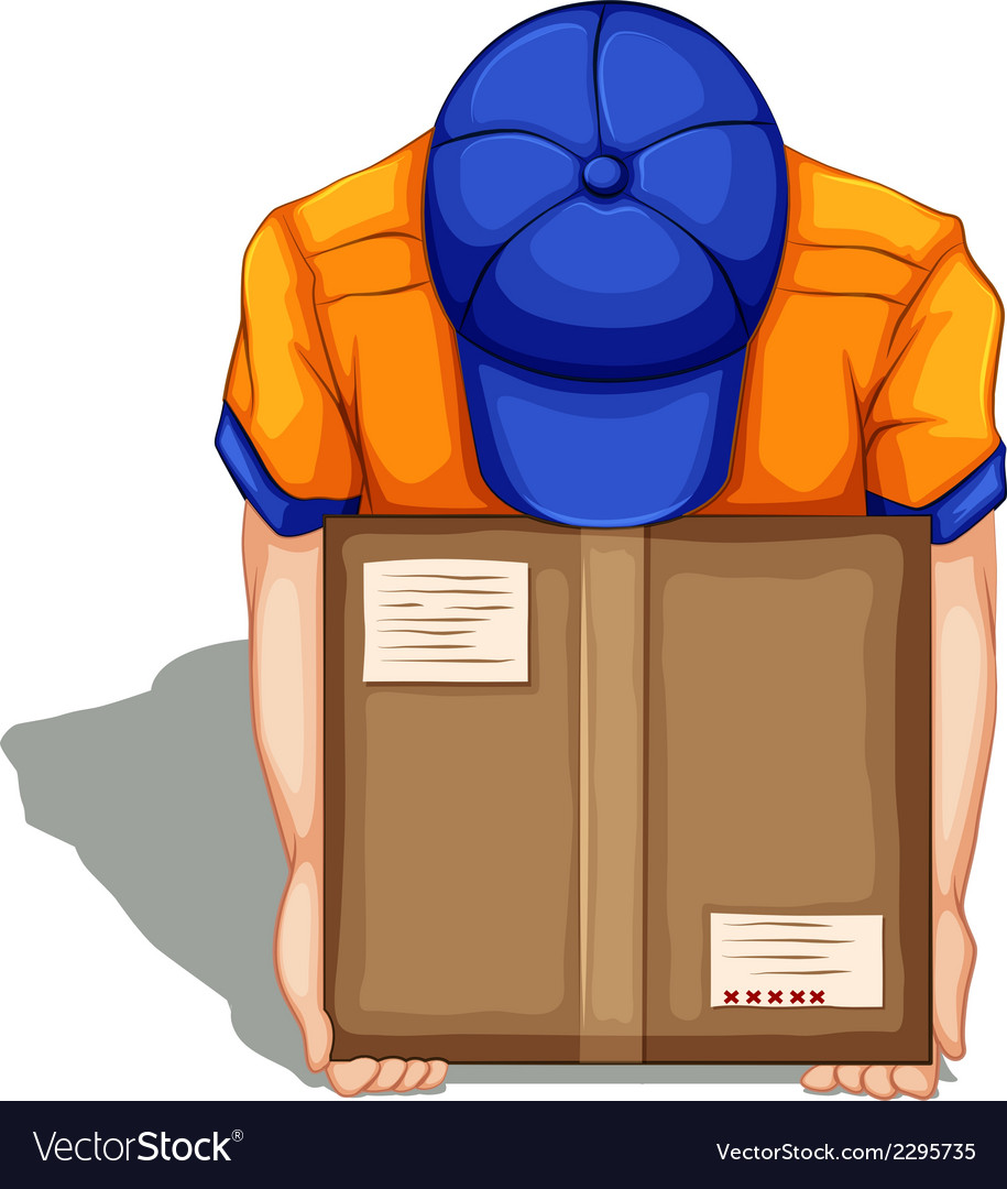 A topview of a delivery man vector | Price: 1 Credit (USD $1)