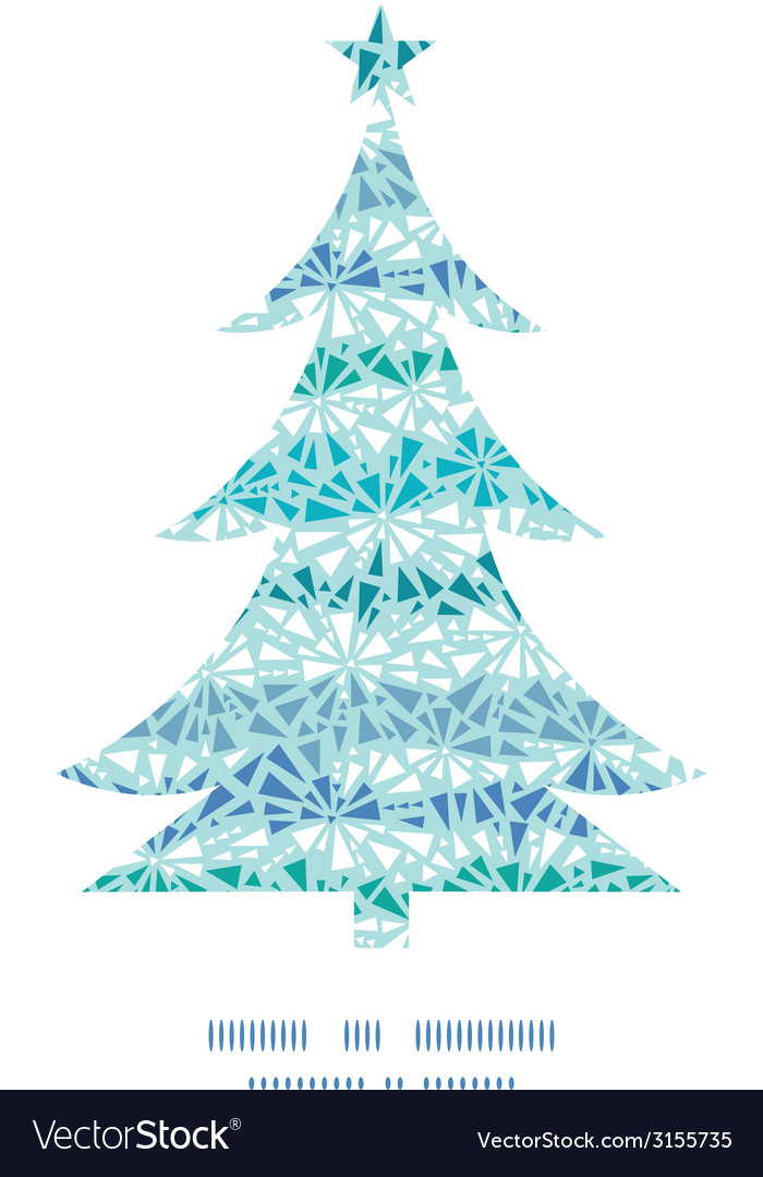 Abstract ice chrystals texture christmas tree vector | Price: 1 Credit (USD $1)