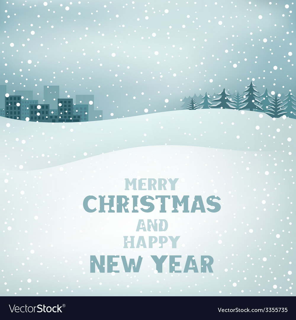 Christmas winter day vector