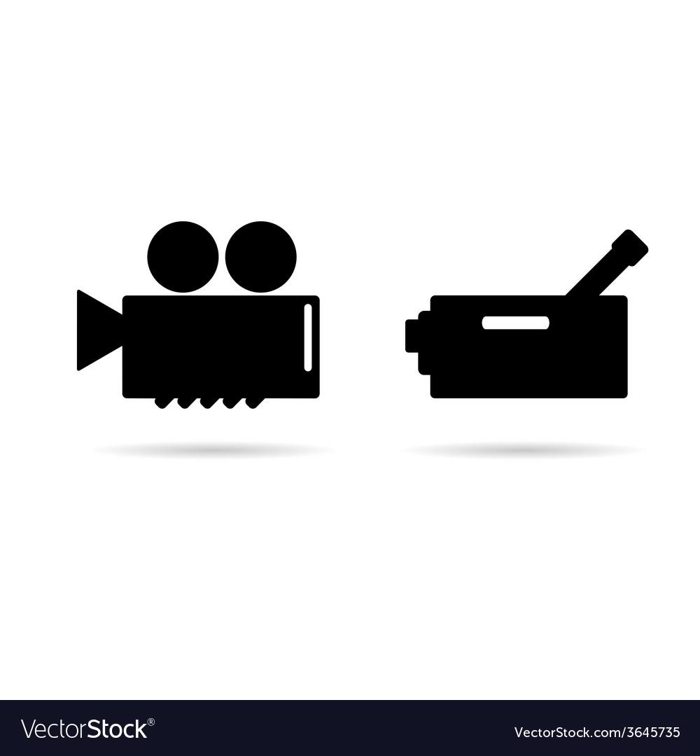 Cinema camera icon vector | Price: 1 Credit (USD $1)