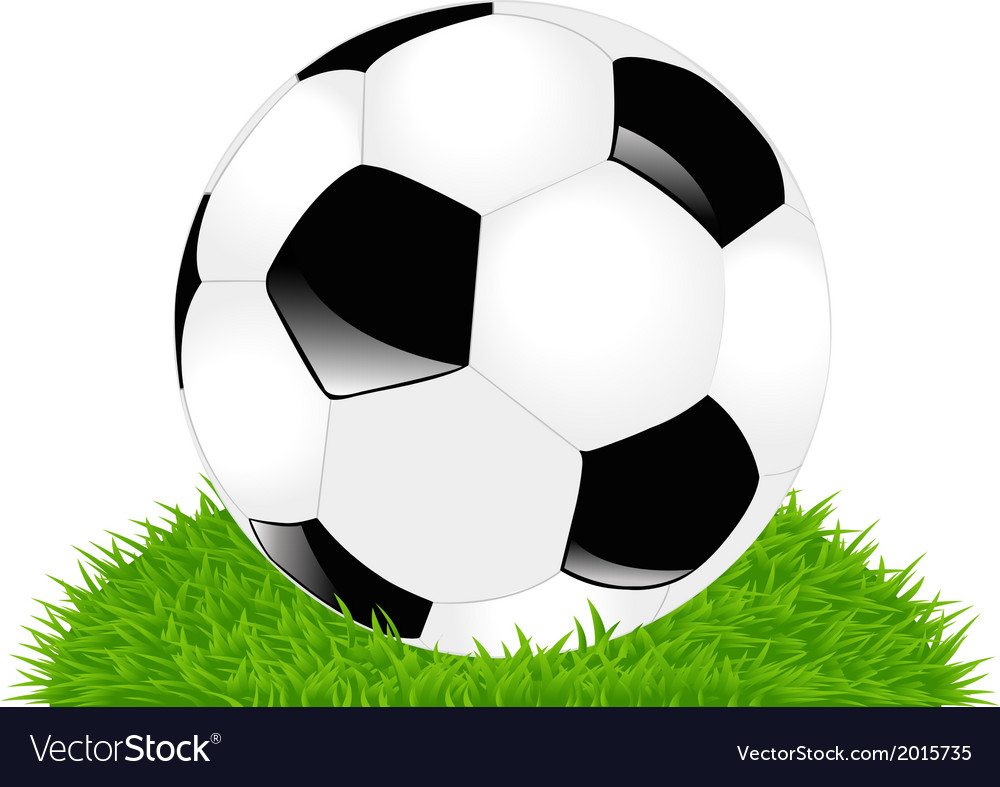 Classic soccer ball on grass vector | Price: 1 Credit (USD $1)