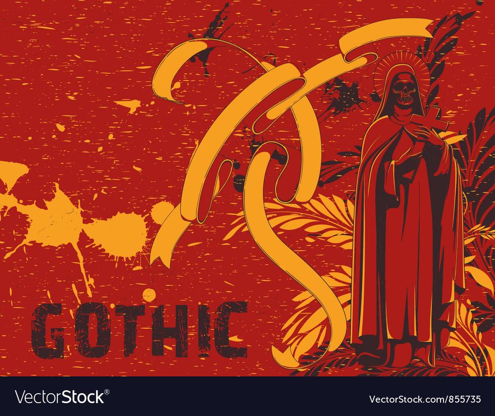 Dark gothic background vector | Price: 1 Credit (USD $1)