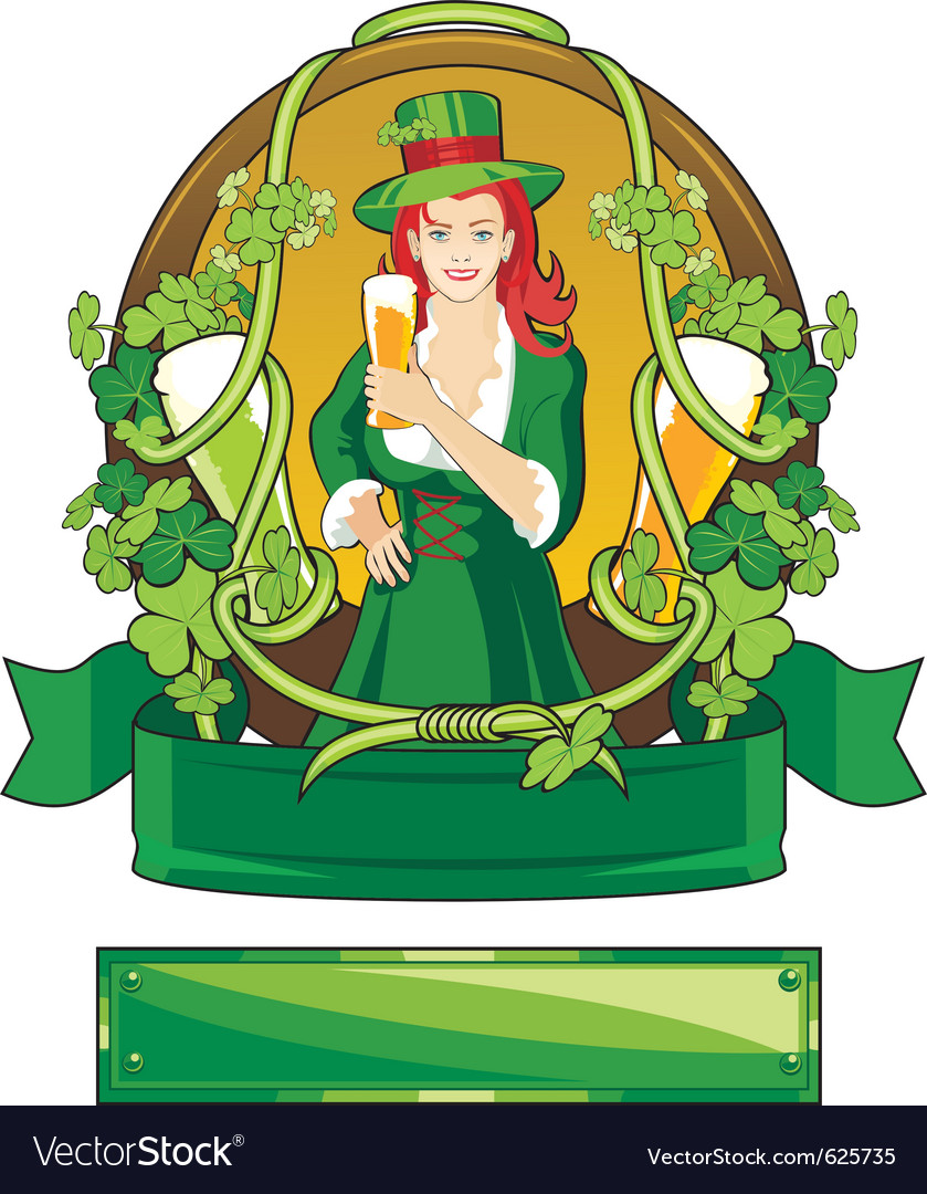 Emblem st patrick day vector | Price: 1 Credit (USD $1)