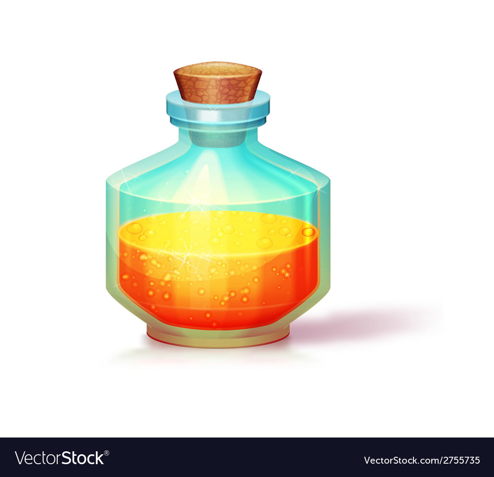 Glass flask vector | Price: 1 Credit (USD $1)