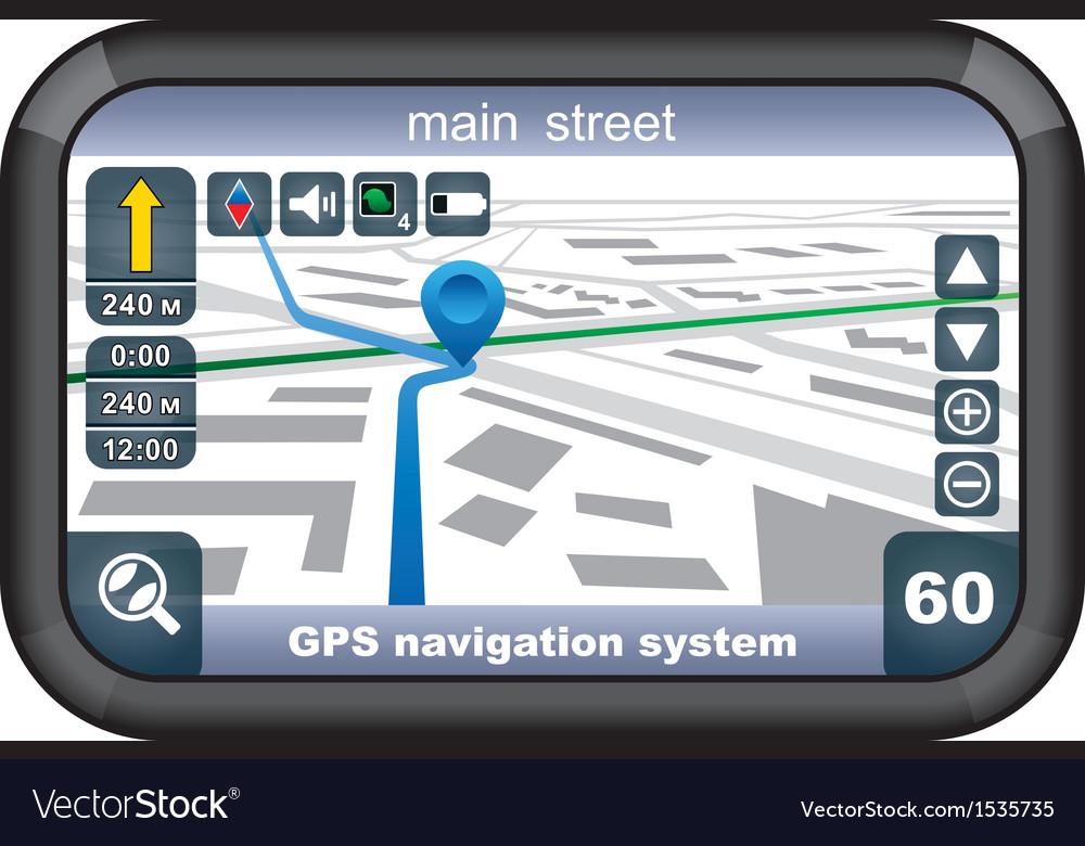 Gps navigator vector | Price: 3 Credit (USD $3)