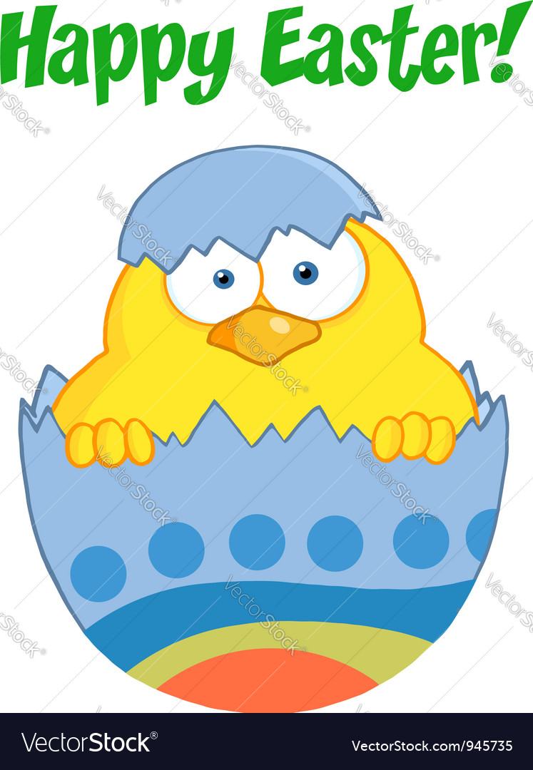 Happy easter chick vector | Price: 1 Credit (USD $1)