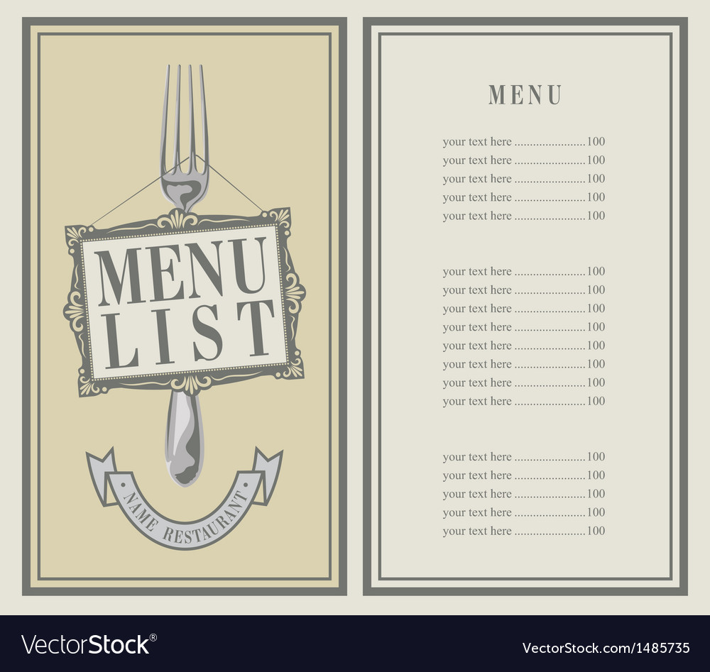 Menu list vector | Price: 1 Credit (USD $1)