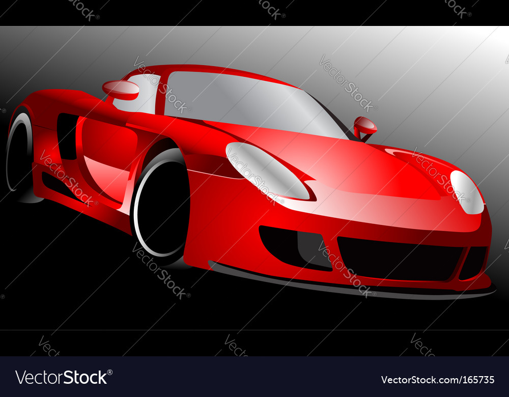 Red sportscar vector | Price: 1 Credit (USD $1)