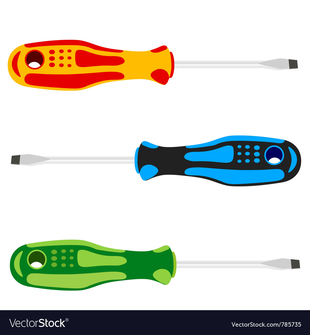 Screwdriver with a colored pen vector | Price: 1 Credit (USD $1)