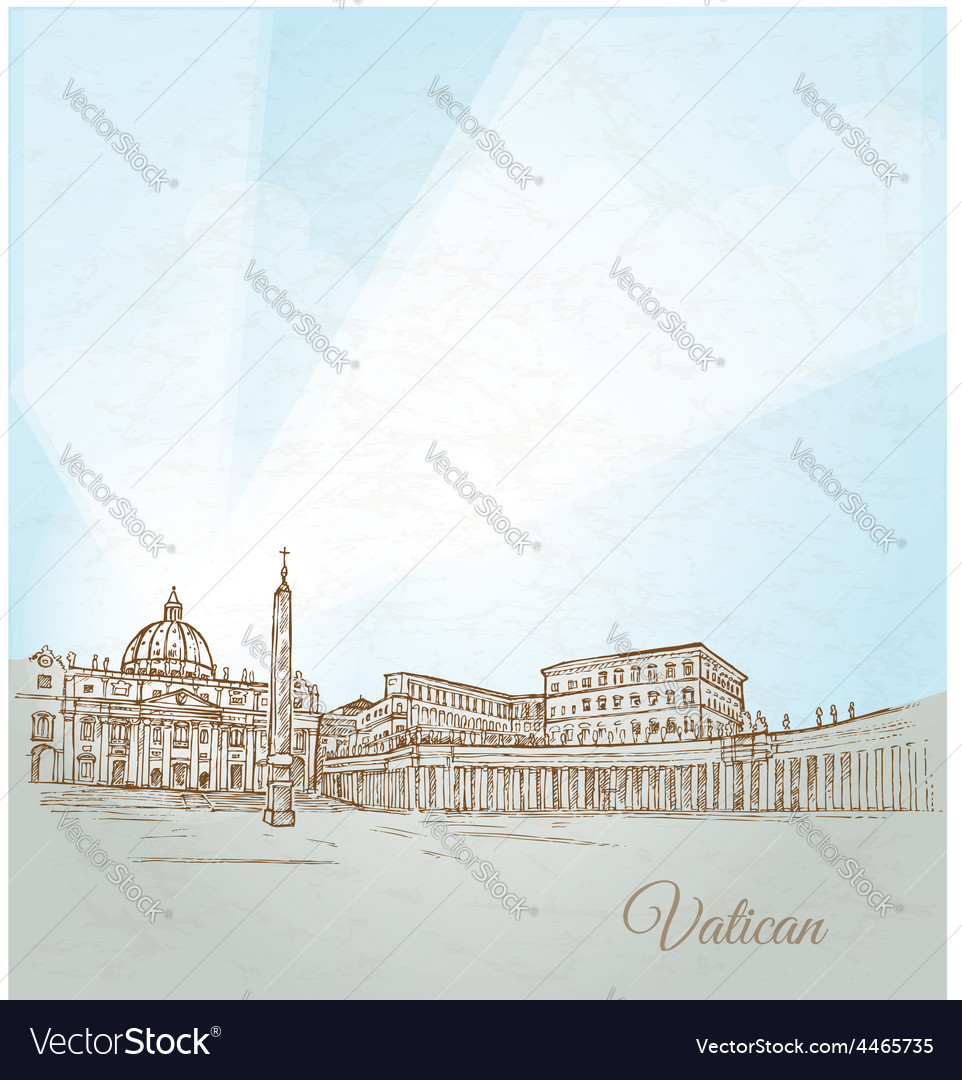 Vatican city background vector | Price: 3 Credit (USD $3)