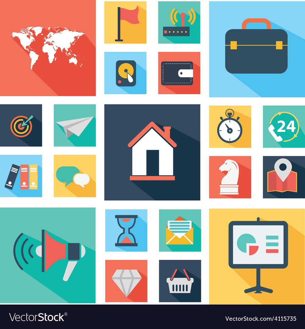 Web design and technology icons vector | Price: 1 Credit (USD $1)