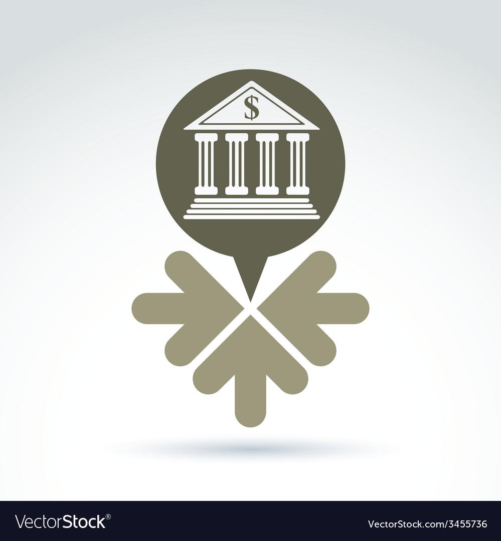 Banking symbol revenue sources concept speech vector | Price: 1 Credit (USD $1)