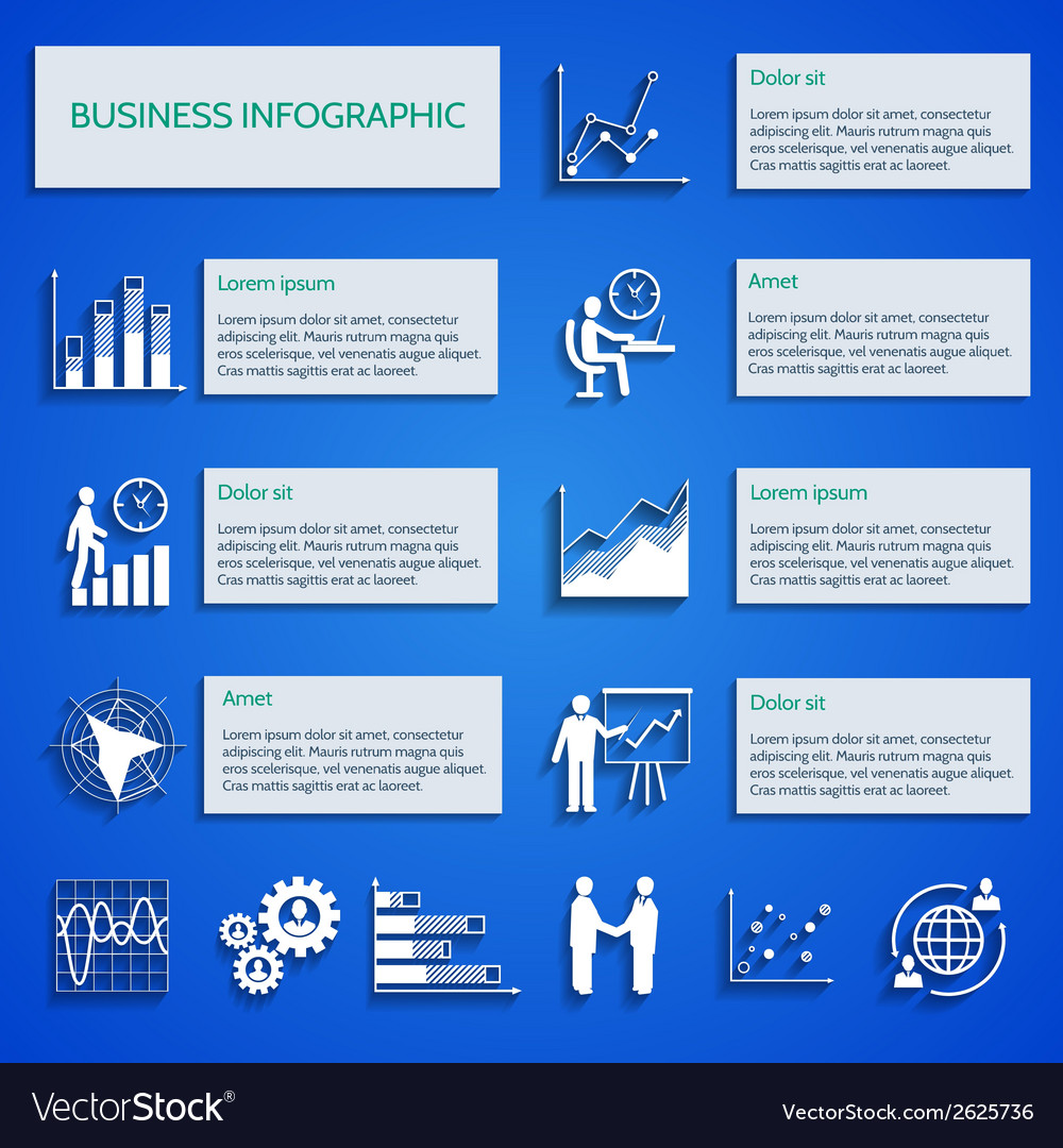 Business chart icons infographic vector | Price: 1 Credit (USD $1)