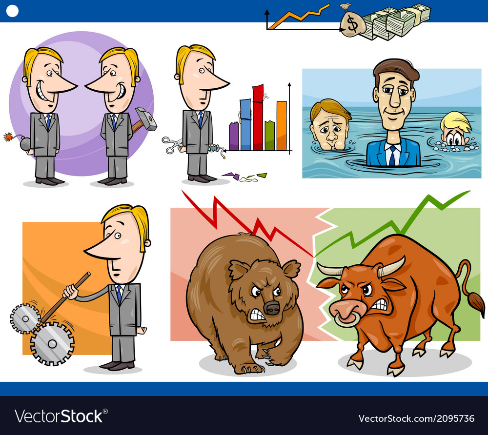 Businessmen cartoon concepts set vector | Price: 1 Credit (USD $1)