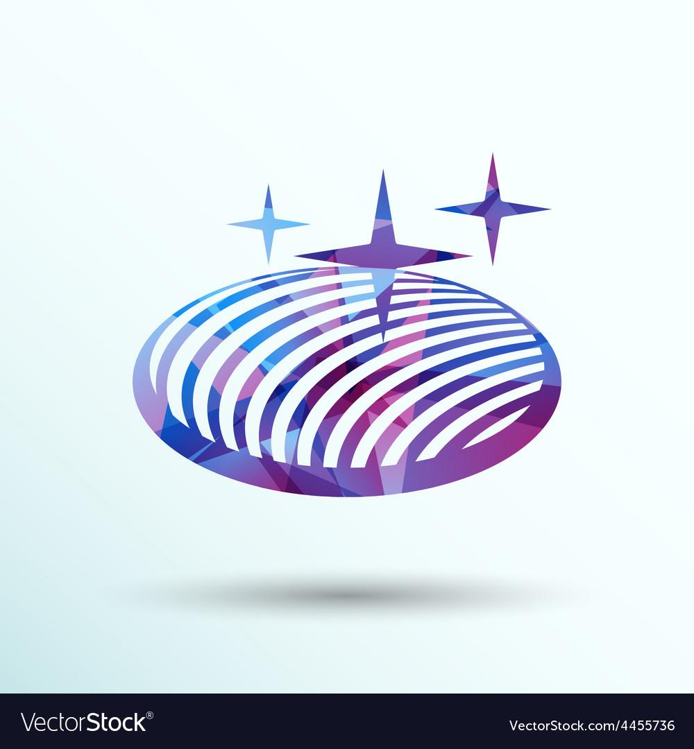 Button glass orb disco icon round vector   Price: 1 Credit (USD $1)