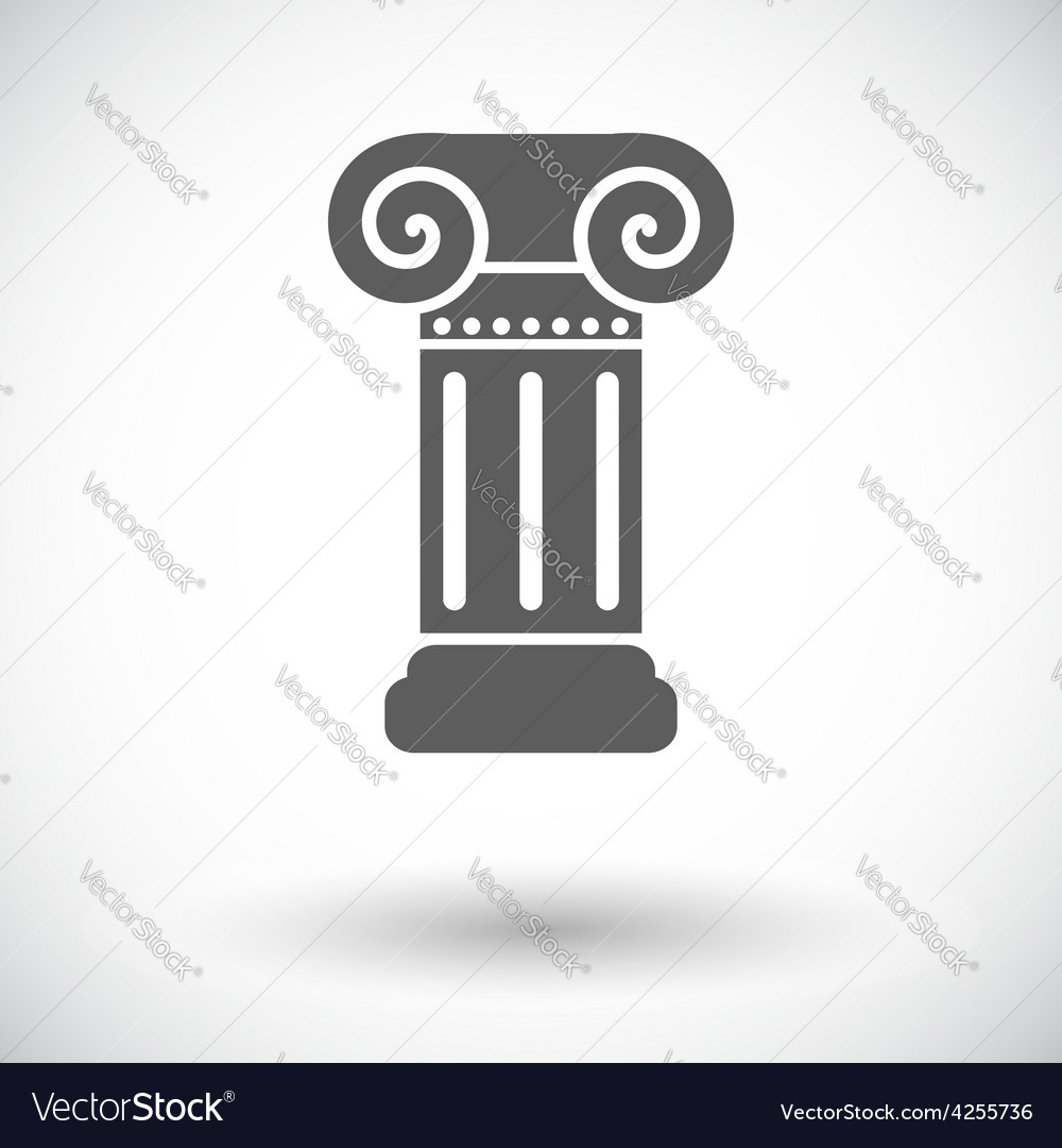 Column single icon vector | Price: 1 Credit (USD $1)