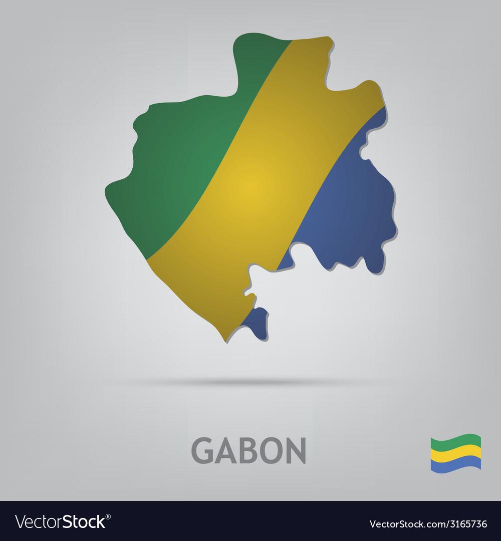 Country gabon vector   Price: 1 Credit (USD $1)