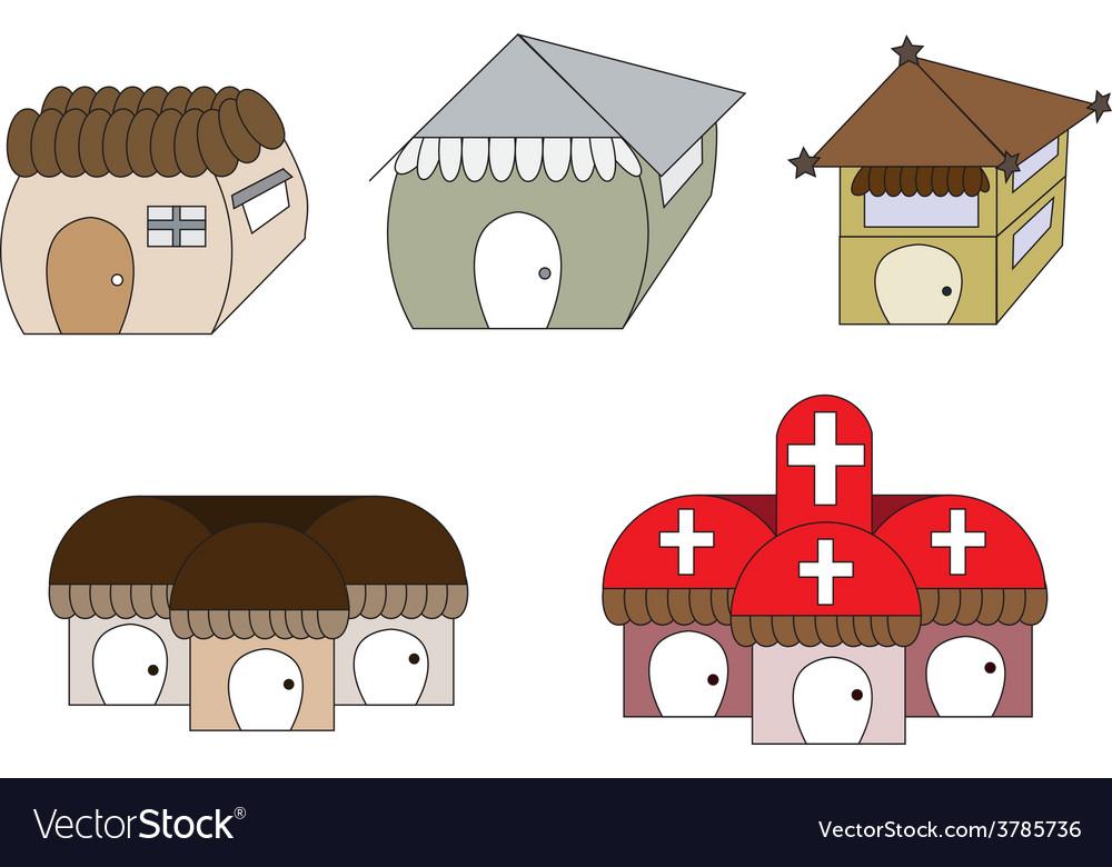 Cute cartoon houses1 01 vector | Price: 1 Credit (USD $1)