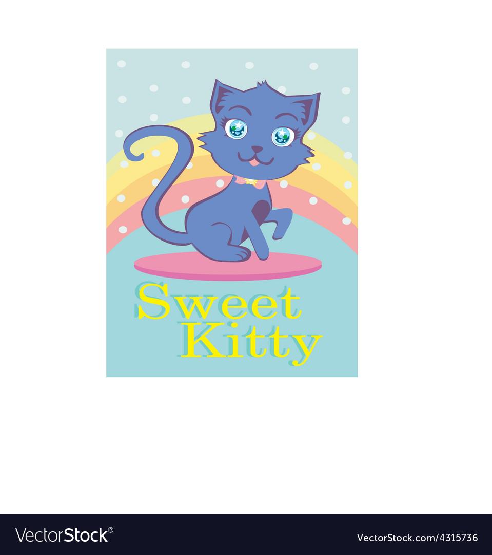 Cute cat cartoon vector | Price: 1 Credit (USD $1)